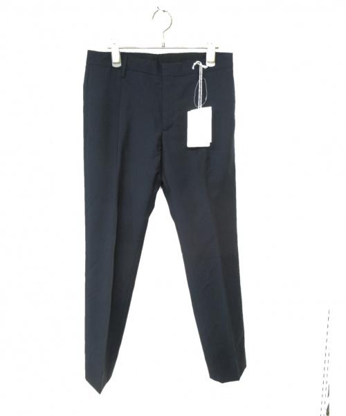 VALENTINO(バレンチノ)VALENTINO (バレンチノ) タックテーパードパンツ ネイビー サイズ:M 未使用品の古着・服飾アイテム