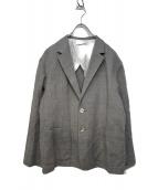 Ebonyivory(エボニーアイボリー)の古着「テーラードジャケット」|グレー×ホワイト