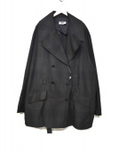 MM6(エムエムシックス)の古着「オーバーサイズダブルコート」 ブラック