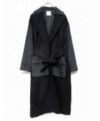 Lautashi(ラウタシー)の古着「異素材切替チェスターコート」|ネイビー