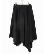 Lautashi(ラウタシー)の古着「アシンメトリースカート」 ブラック