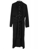Lautashi(ラウタシー)の古着「ブラウスワンピース」 ブラック