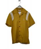 NUDIE JEANS(ヌーディージーンズ)の古着「ボウリングシャツ」|マスタード