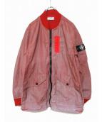 STONE ISLAND(ストーンアイランド)の古着「スリーブワッペンドットジャケット」|レッド×シルバー