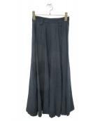 tricot COMME des GARCONS(トリコ コムデギャルソン)の古着「80sヴィンテージフレアスカート」|ネイビー