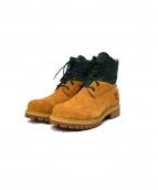 Timberland(ティンバーランド)の古着「PREMIUM BOOTS」|グリーン×ベージュ