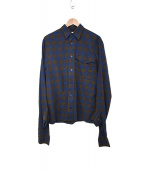 Gosha Rubchinskiy(ゴーシャ ラブチンスキー)の古着「デザインチェックシャツ」|ブルー×グレー