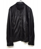 JOSEPH HOMME(ジョセフオム)の古着「シングルレザージャケット」|ブラック
