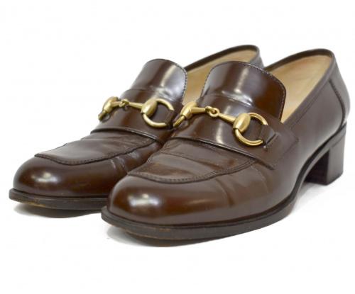 GUCCI(グッチ)GUCCI (グッチ) ビットローファー ブラウン サイズ:36 1/2の古着・服飾アイテム