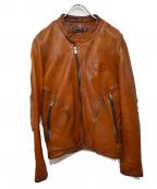 Varde77(バルデセブンティセブン)の古着「レザージャケット」 ブラウン