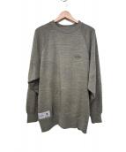 DESCENTE(デサント)の古着「L/Sクルーネックスウェットシャツ」|ベージュ
