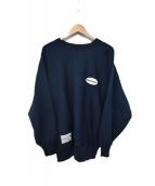 DESCENTE(デサント)の古着「ワンポインチクルーネックスウェットシャツ」|ネイビー