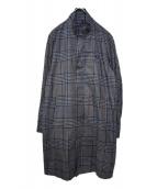 FRED PERRY(フレッドペリー)の古着「スモールカラーチェックコート」|グレー