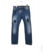 ENTRE AMIS(アントレアミ)の古着「リペア加工デニムパンツ」|インディゴ