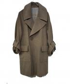 Robes&Confections(ローブスアンドコンフェクションズ)の古着「アンゴラコート」|グレー
