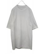 RICK OWENS(リックオウエンス)の古着「ヘビーウェイトロングTシャツ」 ホワイト