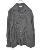 COMME des GARCONS HOMME(コムデギャルソンオム)の古着「00'S L/Sコットンシャツ」 ブラック