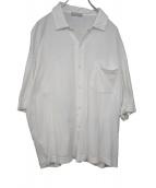 COMME des GARCONS HOMME(コムデギャルソンオム)の古着「ヴィンテージS/Sオープンカラーコットンシャツ」 ホワイト