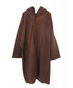 HOMME PLISSE ISSEY MIYAKE(オム プリッセ イッセイ ミヤケ)の古着「プリーツフーテッドコート」|ブラウン