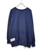 DESCENDANT(ディセンダント)の古着「ワポイントクルーネックスウェットシャツ」|ネイビー