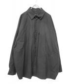 My Beautiful Landlet(マイ ビューティフル ランドレット)の古着「オーバーサイズスナップボタンシャツ」|ブラック