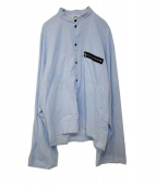 SUNSEA(サンシー)の古着「18S/S COTTON BOMBER SHIRT」|ライトブルー
