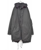 YOHJI YAMAMOTO(ヤマモトヨウジ)の古着「リバーシブルモッズコート」 ブラック