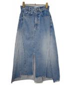 CHRISTIAN DADA(クリスチャンダダ)の古着「デニムスカート」 ライトインディゴ