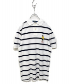 POLO RALPH LAUREN(ポロラルフローレン)の古着「ポロベアポロシャツ」|ホワイト×ネイビー