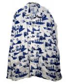 Name.(ネイム)の古着「スペースパターンパジャマシャツ」|ホワイト×ブルー