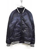 nano・universe×西川ダウン(ナノユニバース)の古着「MA-1ジャケット」|ネイビー