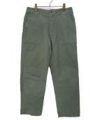 Engineered Garments(エンジニアードガーメン)の古着「コットンツイルベイカーパンツ」 セージグリーン
