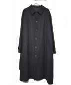 YohjiYamamoto pour homme(ヨウジヤマモトプールオム)の古着「ベルテッドベビーメルトンコート」|ブラック