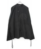Essay(エッセイ)の古着「スタンドカラーシャツジャケット」|ブラック