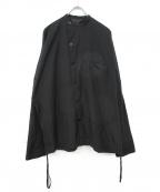 Essay(エッセイ)の古着「スタンドカラーシャツジャケット」 ブラック