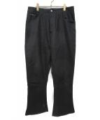 GOURMET JEANS(グルメジーンズ)の古着「ワイドフレアパンツ」|ブラック