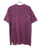 DESCENDANT(ディセンダント)の古着「ポケットTシャツ」|パープル