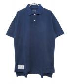 DESCENDANT(ディセンダント)の古着「オーバーサイズポロシャツ」|ネイビー