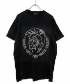 DIESEL(ディーゼル)の古着「ビッグロゴTシャツ」|ブラック