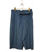 me ISSEY MIYAKE(ミーイッセイミヤケ)の古着「ハーフパンツ」|ブルー×ブラック