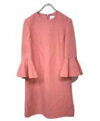 VALENTINO(バレンチノ)の古着「袖フレアブラウスワンピース」|ピンク