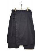 GROUND Y(グラウンドワイ)の古着「ラップデザインパンツ」|ブラック