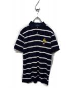 POLO RALPH LAUREN(ポロラルフローレン)の古着「ポロベア刺繍ポロシャツ」|ホワイト×ネイビー