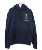 POLO RALPH LAUREN(ポロラルフローレン)の古着「ポロベア刺繍プルオーバーパーカー」|ネイビー