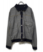 LEVIS×BEAMS(リーバイス×ビームス)の古着「Inside Out Trucker jacket」|インディゴ