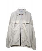 STONE ISLAND(ストーンアイランド)の古着「ジップシャツジャケット」|ベージュ
