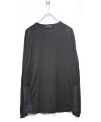 STONE ISLAND(ストーンアイランド)の古着「コットンストレッチTシャツ」|ブラック×ネイビー