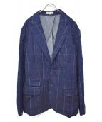 JAPAN BLUE JEANS(ジャパンブルージーンズ)の古着「インディゴ染めステッチデザインジャケット」|インディゴ