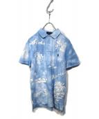 POLO RALPH LAUREN(ポロラルフローレン)の古着「タイダイポロシャツ」|スカイブルー