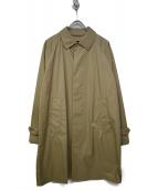 BEAMS(ビームス)の古着「ナイロンステンカラーコート」|ベージュ